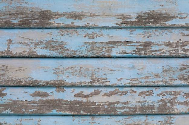 Vecchi pezzi di legno texture di sfondo superficiale e abrasioni di colore azzurro per natura
