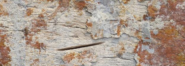 Vecchia struttura di legno, fondo di legno antico con una bandiera della struttura dell'annata