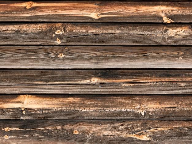 Tavole orizzontali di sfondo in legno vecchio