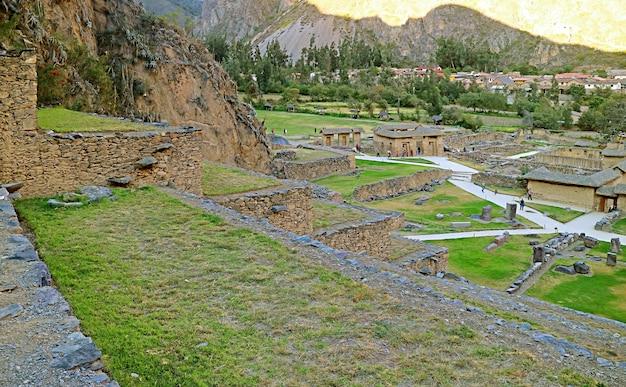 Ollantaytambo, l'ultima roccaforte degli incas nella provincia di urubamba, regione di cusco, perù