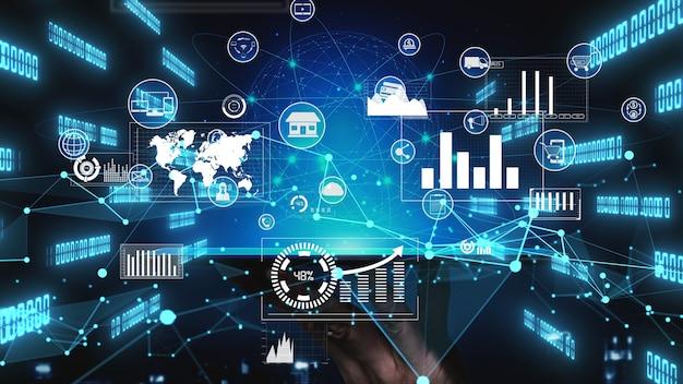 Tecnologia omni channel del business retail online concettuale