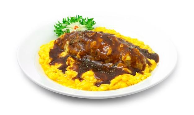 Omelette di omurice con salsa di riso integrale