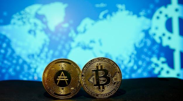 Uno dei modi migliori per risparmiare denaro utilizzando criptovalute concetto di investimento bitcoin cardano ada