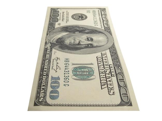 Un conto di cento dollari isolare