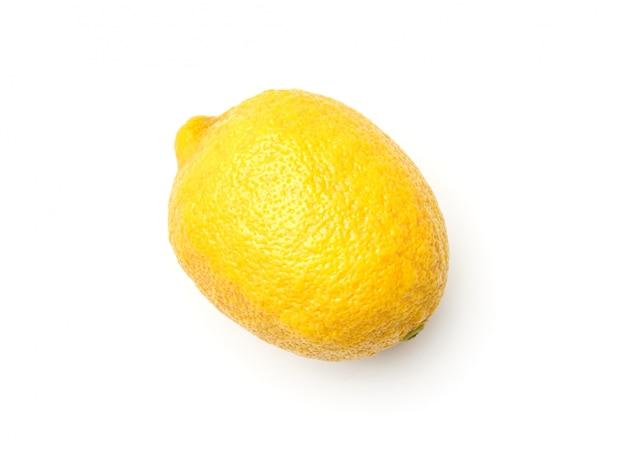 Un limone isolato su sfondo bianco