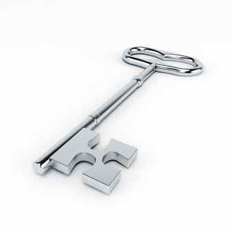 Una chiave metallica isolata