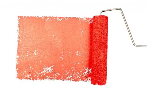 Una traccia rossa di pittura