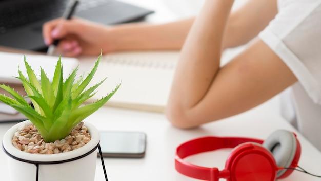 Lezioni online con studenti e impianto di casa