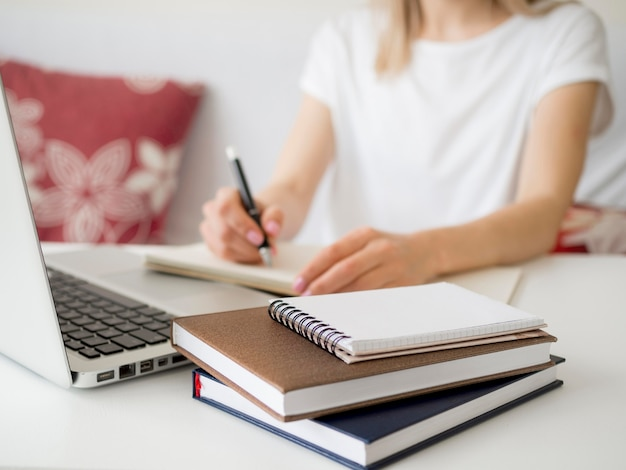 Lezioni online con la scrittura degli studenti