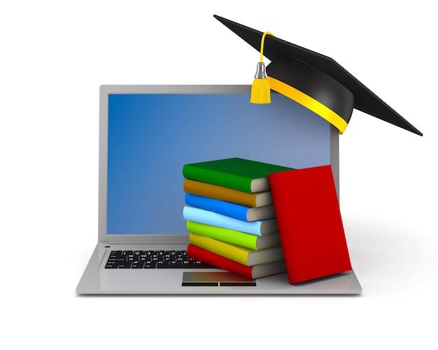 Educazione online su bianco
