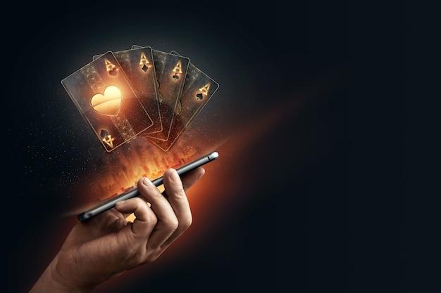Gioco d'azzardo online su dispositivo mobile