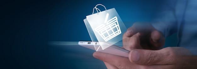 Acquisto online applicazione icona aziendale