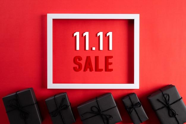 Shopping online della cina, 11.11 concetto di vendita per single.