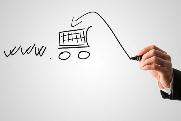 Concetto di shopping online ed e-commerce