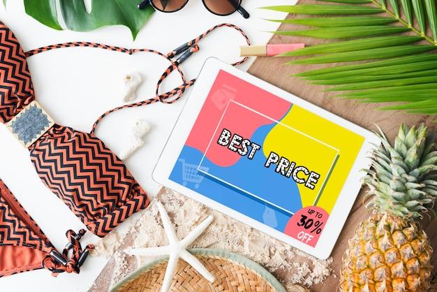 Interfaccia di vendita di promozione dello shopping online