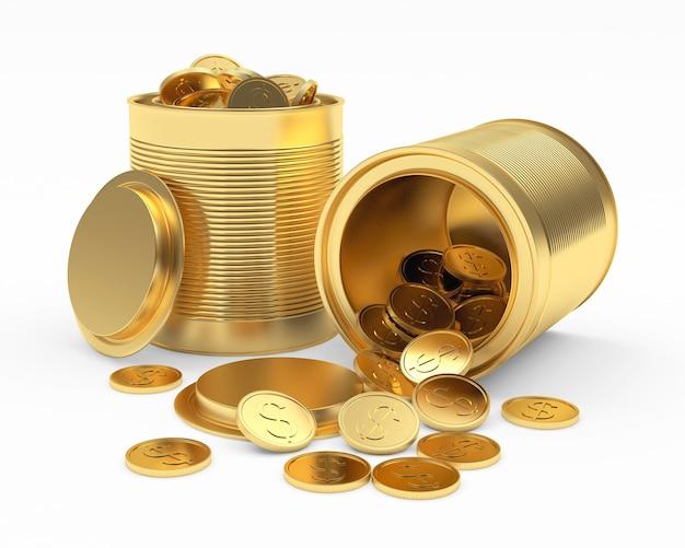 Apri lattine d'oro con monete