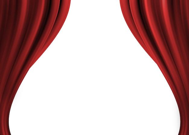 Sipario rosso aperto del teatro