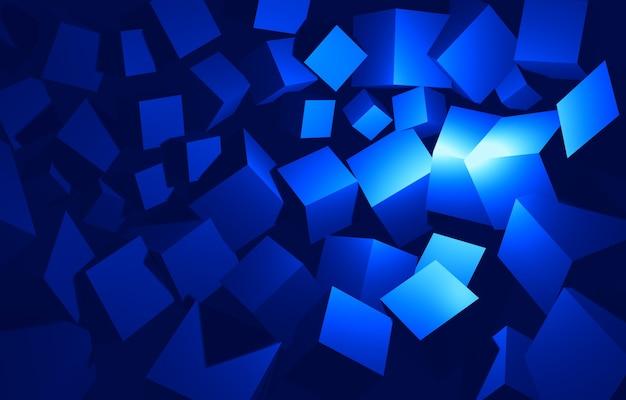 Priorità bassa astratta della rappresentazione dei cubi 3d arancioni