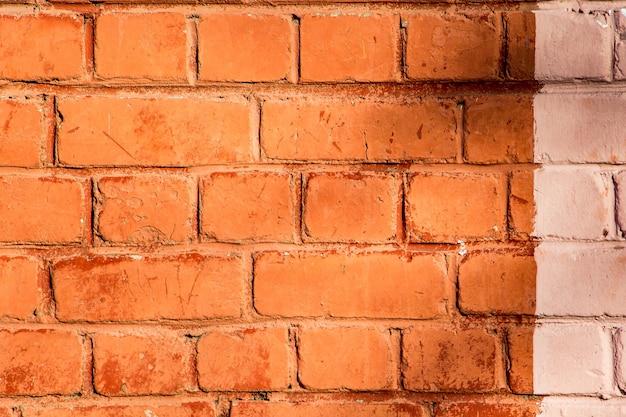 Muro di mattoni arancione, texture per il design