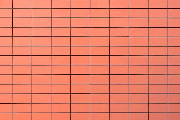 Muro di mattoni arancione Foto Premium