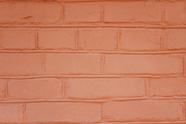 Muro di mattoni arancione
