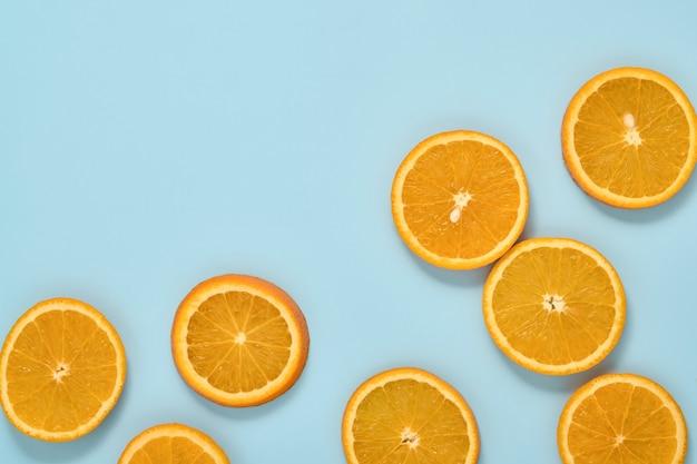 Composizione a motivo di agrumi arancioni