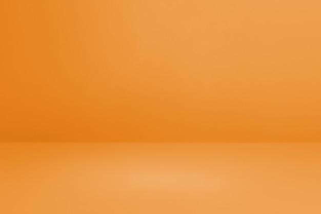 Priorità bassa interna concreta arancione. scena modello vuoto