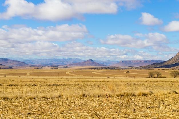 Panorama di orange free state, sudafrica