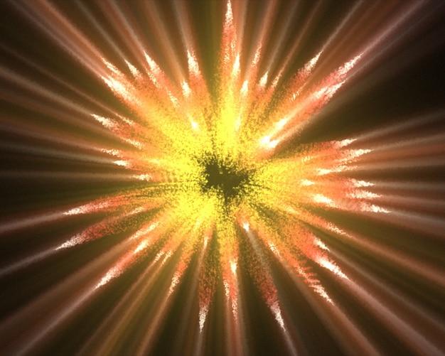 Linee arancioni di luci fluorescenti