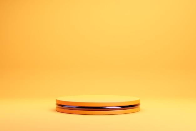 Sfondo arancione podio per halloween.