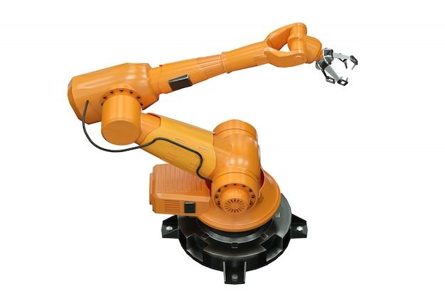 Manipolatore braccio robot arancione