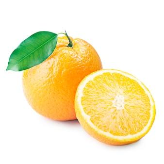 Studio arancione isolato su priorità bassa bianca