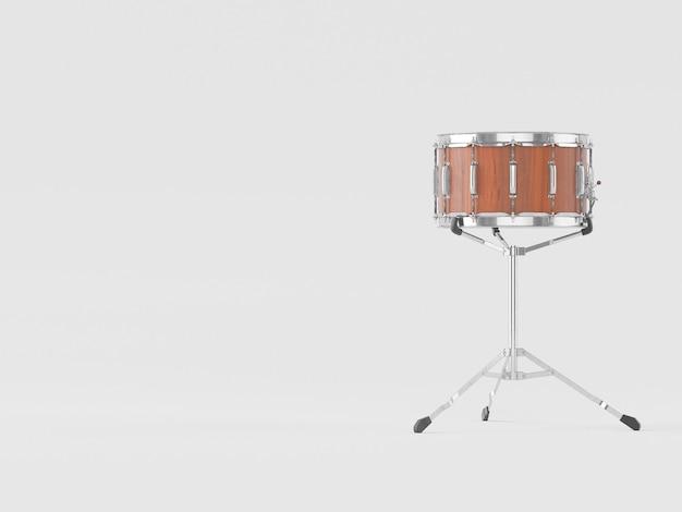 Orchestra piccolo tamburo su bianco Foto Premium