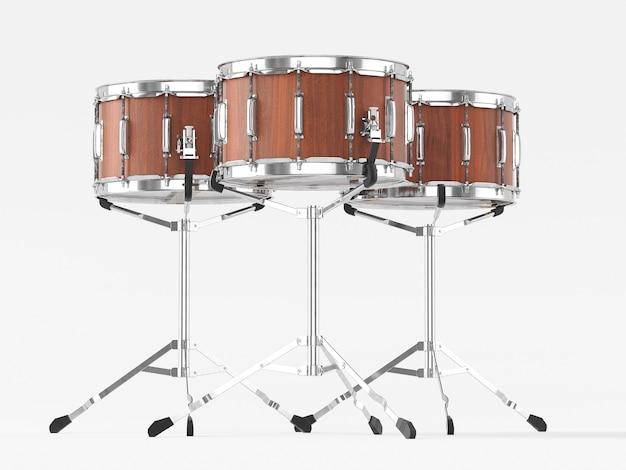 Orchestra piccolo tamburo su bianco