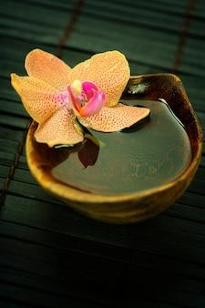 Composizione spa orchid. spa e concetto di assistenza sanitaria