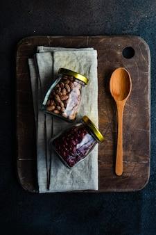 Concetto di alimenti biologici Foto Premium