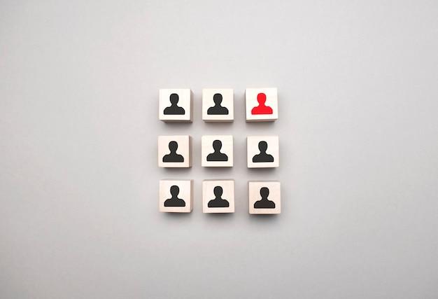 Struttura organizzativa, team building, gestione aziendale o concetti di risorse umane