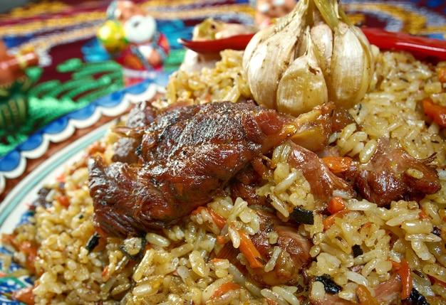 Pilaf orientale .cucina uzbeka -cucina centro asiatica