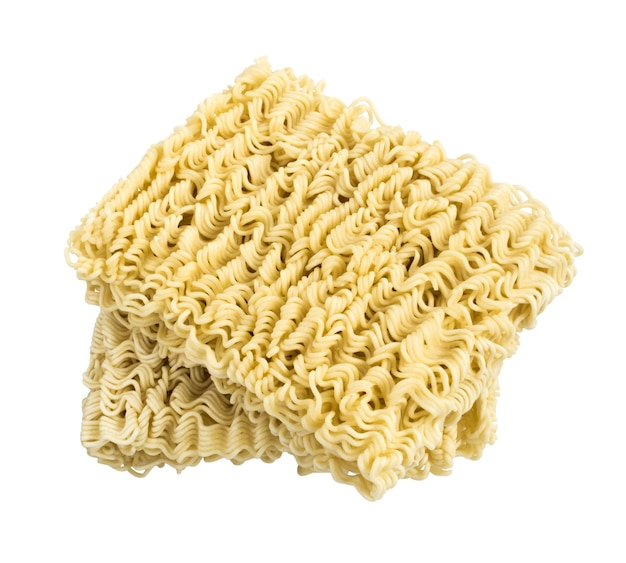 Spaghetti secchi istantanei orientali malsani