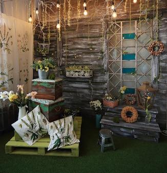 Design originale delle aree salotto della lounge .idee e design