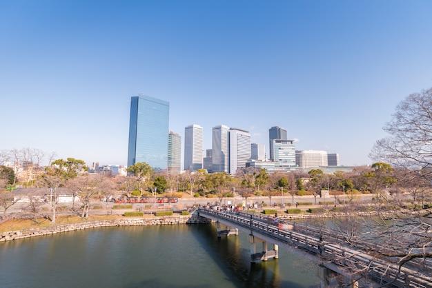 Osaka modern osaka city del giappone, città del concetto