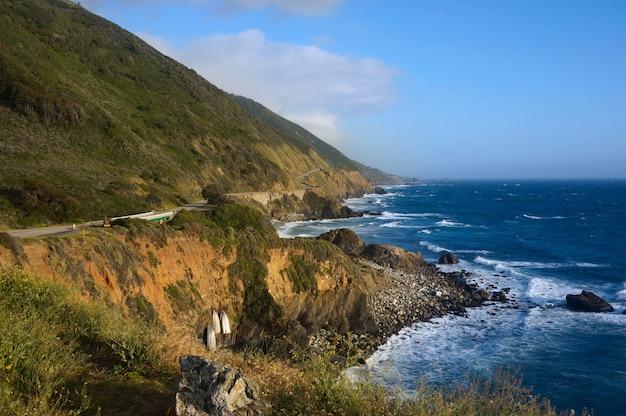Costa dell'oceano pacifico, california, usa.