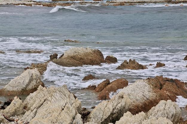 Oceano pacifico a kaikoura in nuova zelanda