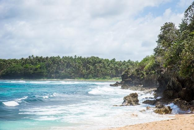 Spiaggia del pacifico a siargao, filippine