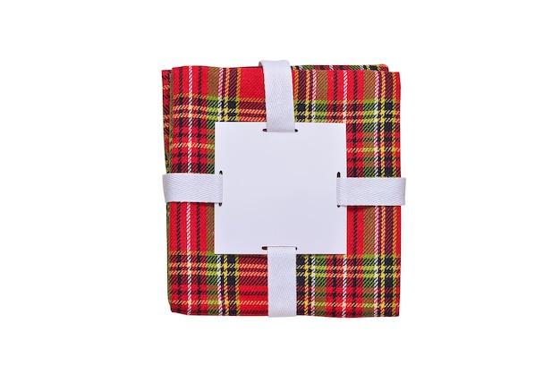 Confezione di asciugamani in stile natalizio isolato, copia dello spazio