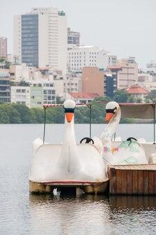 Pedalò dalla laguna di rodrigo de freitas a rio de janeiro in brasile