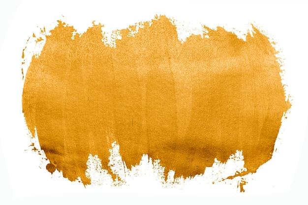 Dipingi la trama del colore del tratto del pennello con tratti gialli con spazio per il tuo testo
