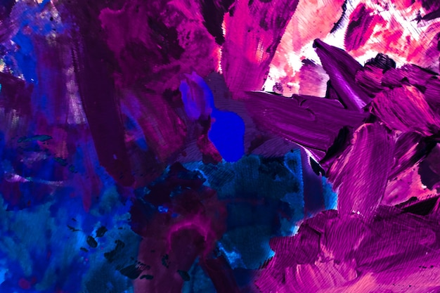 Sfondo artistico texture dipinta e concetto di pittura moderna astratta pennellate di vernice acrilica arte flatlay background