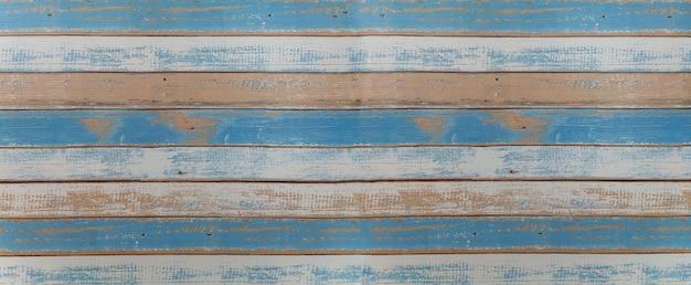 Tavole di legno azzurro e bianco
