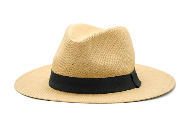 Cappello panama isolato su sfondo bianco